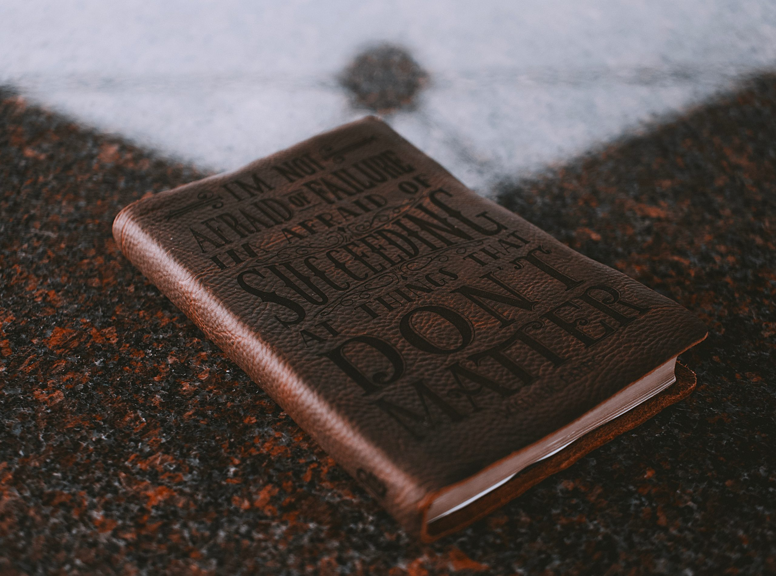 Photo of a battered notebook or diary to use as writing inspiration